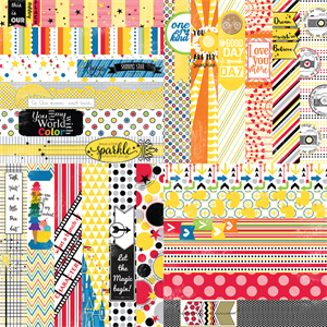 "Picture of It's a Kid's World by Lauren Hinds 2"" Border Strips - Toddler and Magical Vacation - Set 12"